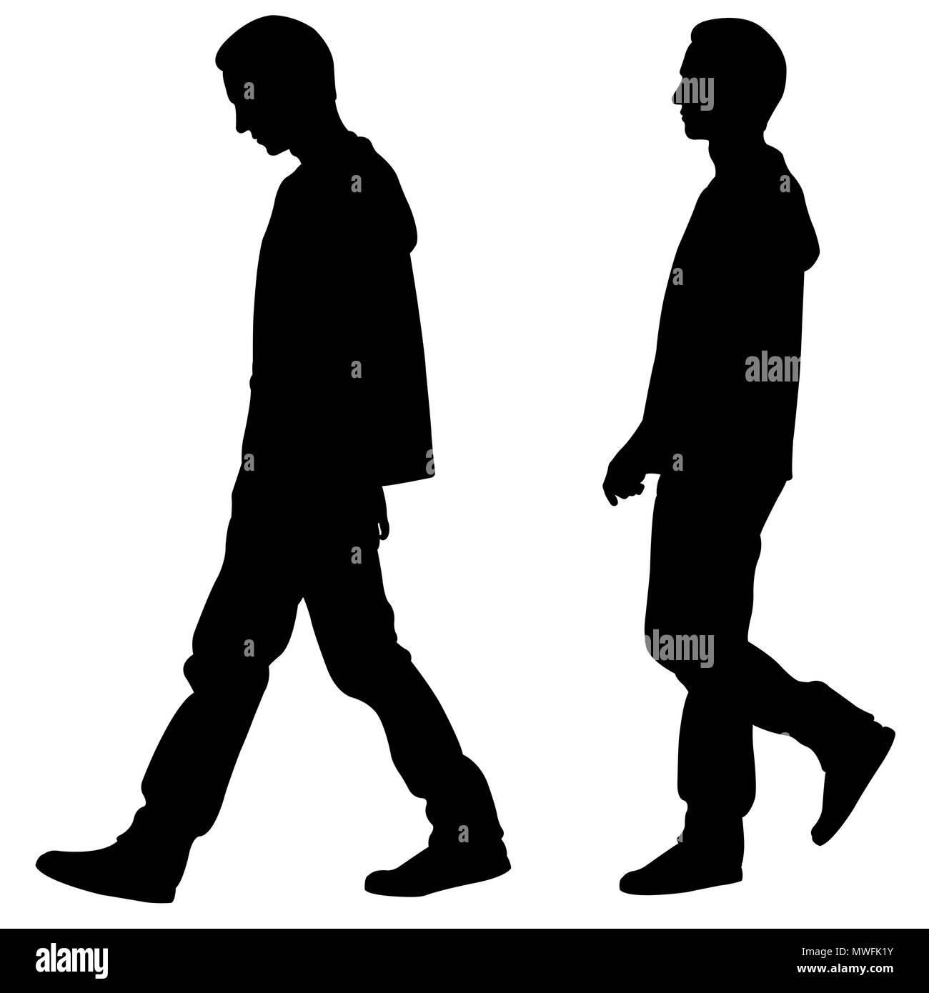 Immagini Sagome Persone.Sagome Di Persone Che Camminano Isolato Su Bianco Foto