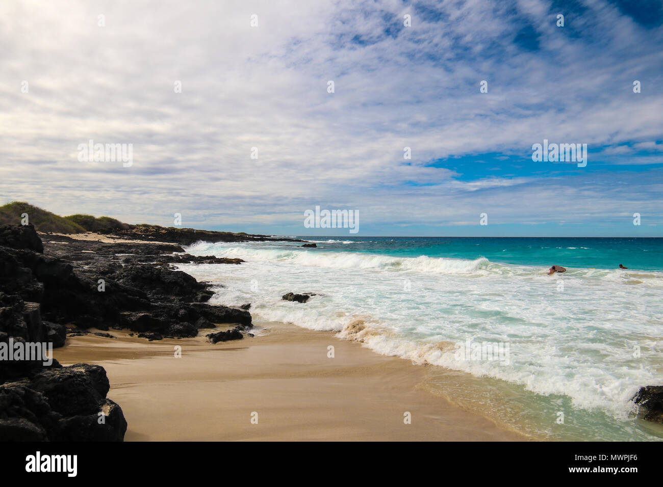 Uno dei più belli e più votati spiagge del mondo - Wailea Beach, Maui, Hawaii, STATI UNITI D'AMERICA Immagini Stock