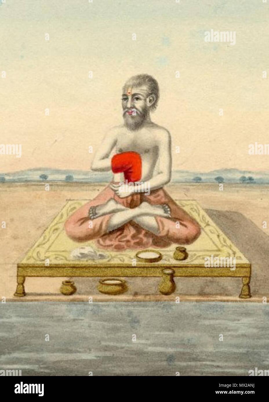 . Inglese: pittura ad acquarello di Kapila, vedica salvia. Il 10 marzo 2014, 18:39:38. Sconosciuto 335 Kapila muni Immagini Stock