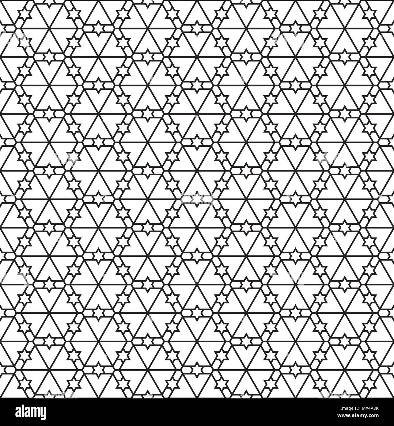 Disegni Geometrici Bianco E Nero seamless pattern in bianco e nero in linee di media.basato