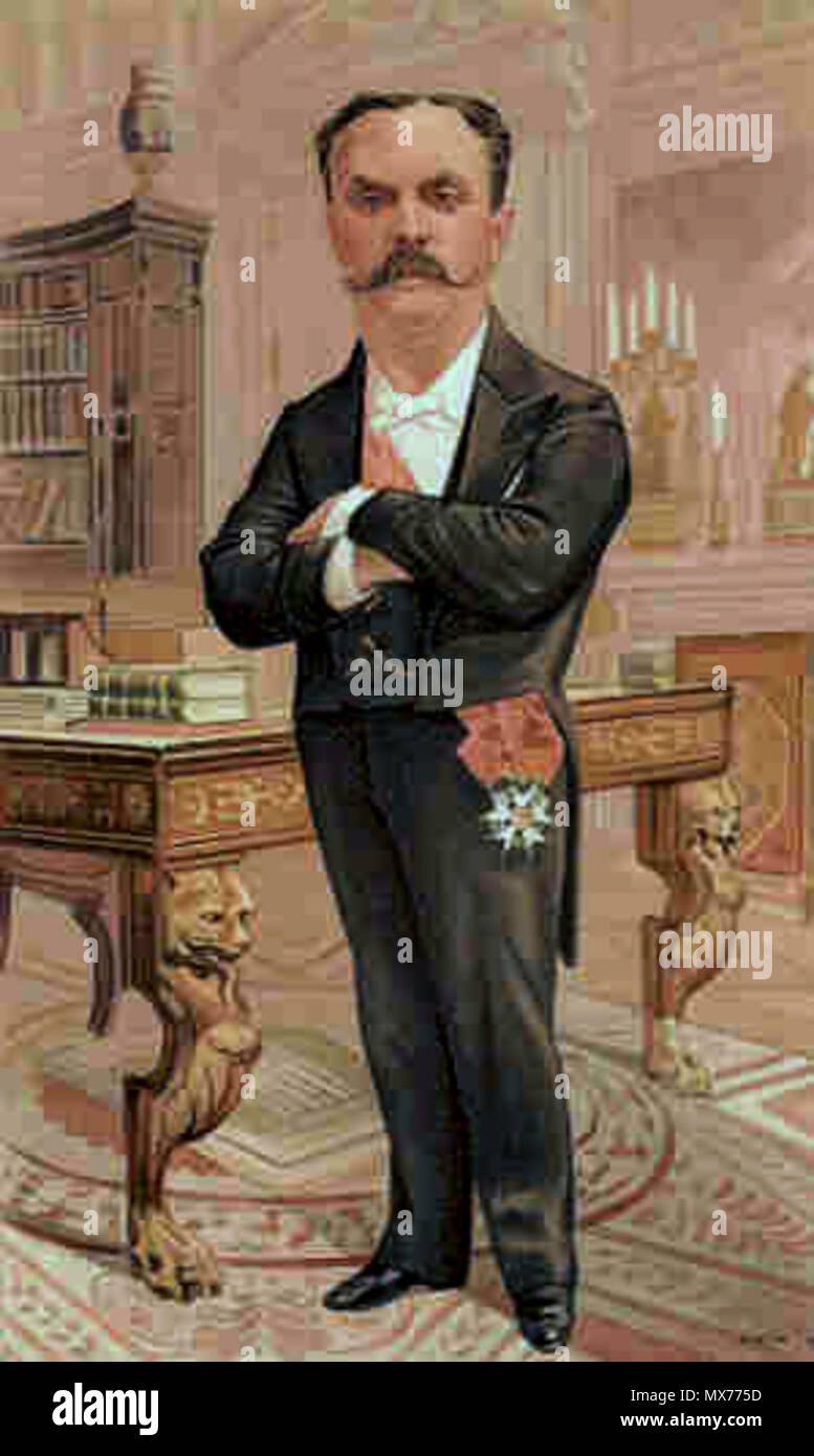 . La caricatura di M JPP Casimir-Perier. Leggere la didascalia ' LA REPUBBLICA FRANCESE'. 1894. Jean Baptiste Guth 117 Jean Casimir-Perier Vanity Fair 1894-08-30 Immagini Stock