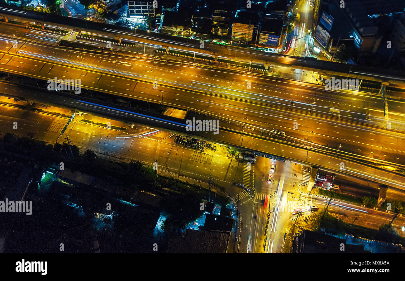 Drone shot su Bangkok, Thailandia Immagini Stock