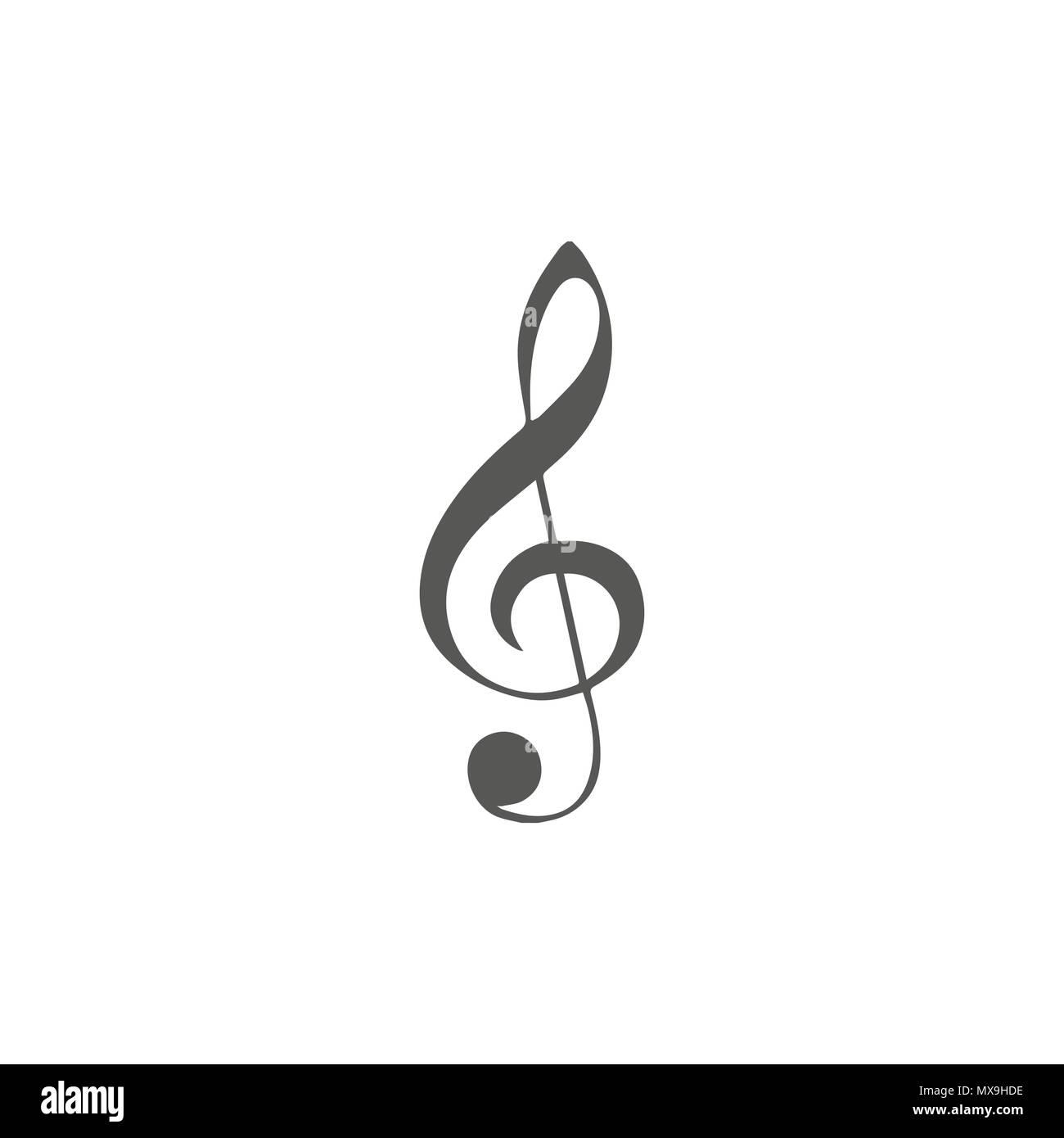 Vettore Icona Semplice Per Tema Musicale Illustrazione Della Chiave