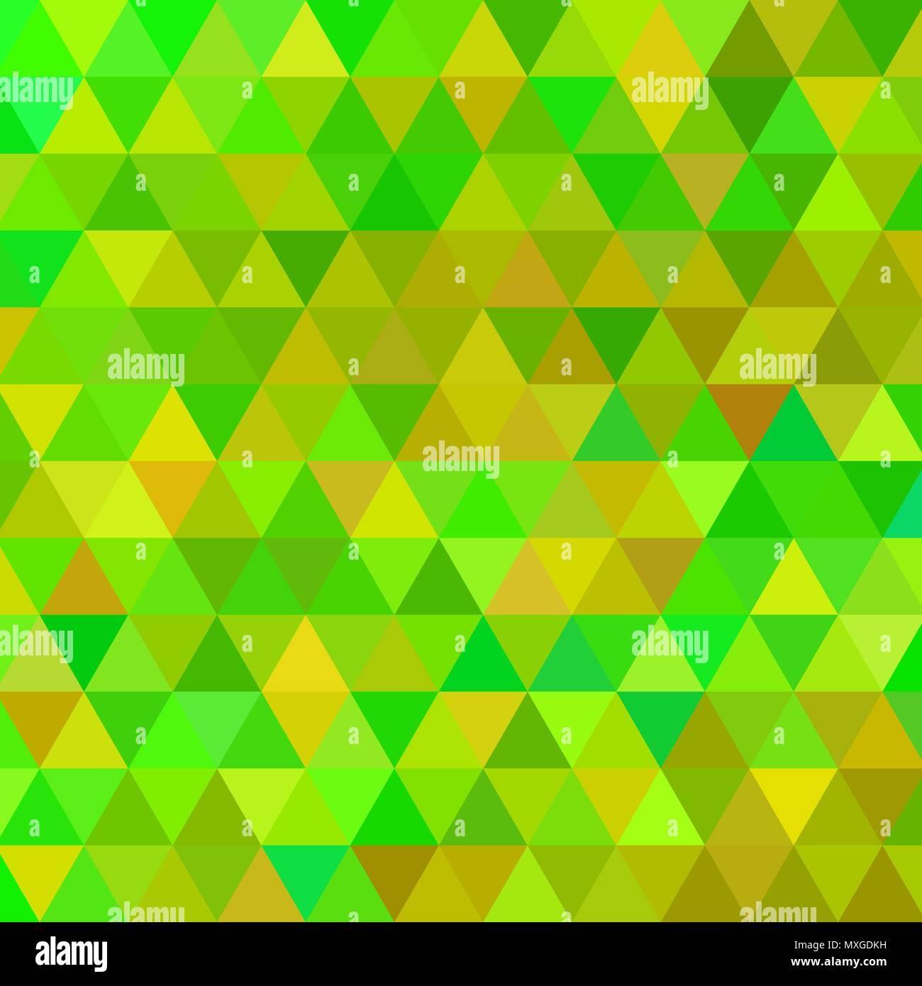 Vettore Astratto Triangolo Geometrico Sfondo Verde E Giallo