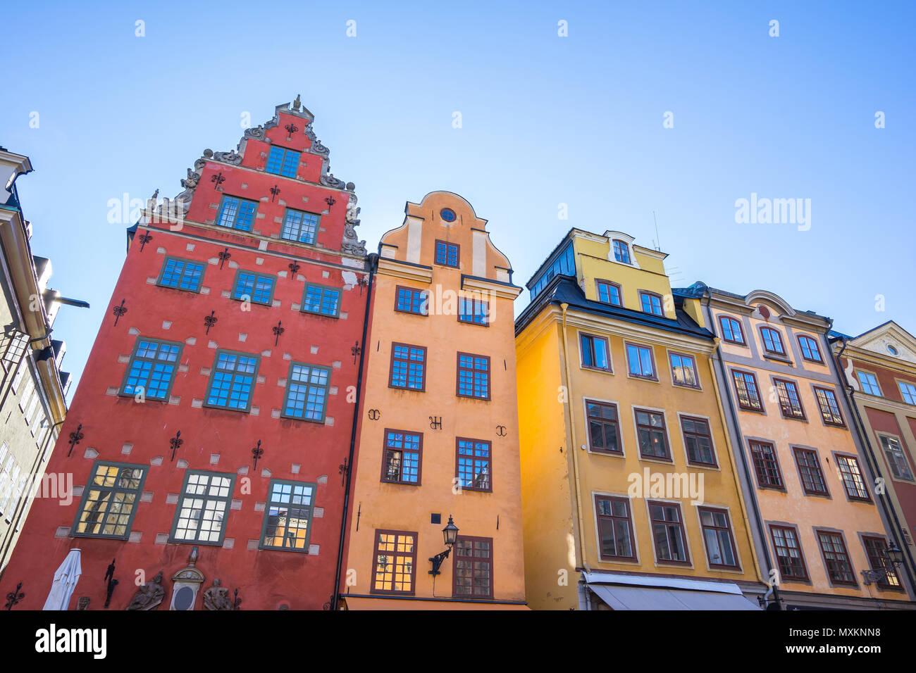 Gamla Stan città vecchia nella città di Stoccolma, Svezia. Immagini Stock
