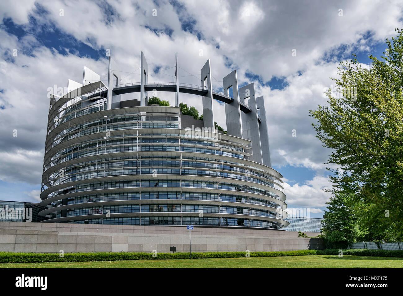 Il Parlamento europeo, Strasburgo, Alscace, Francia Immagini Stock