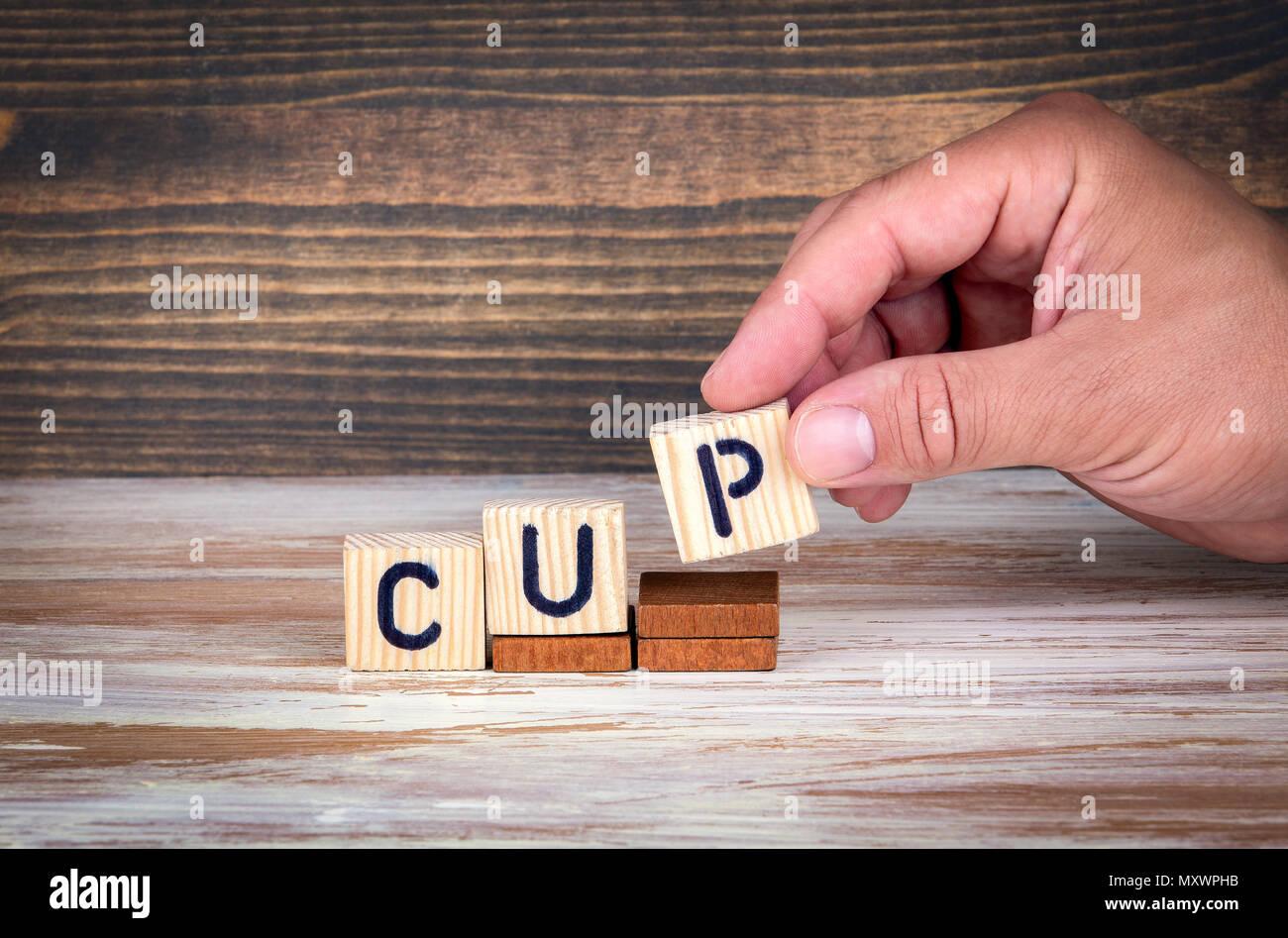 Cup. Competizioni sportive, il successo sul lavoro o realizzazioni in materia di formazione Immagini Stock