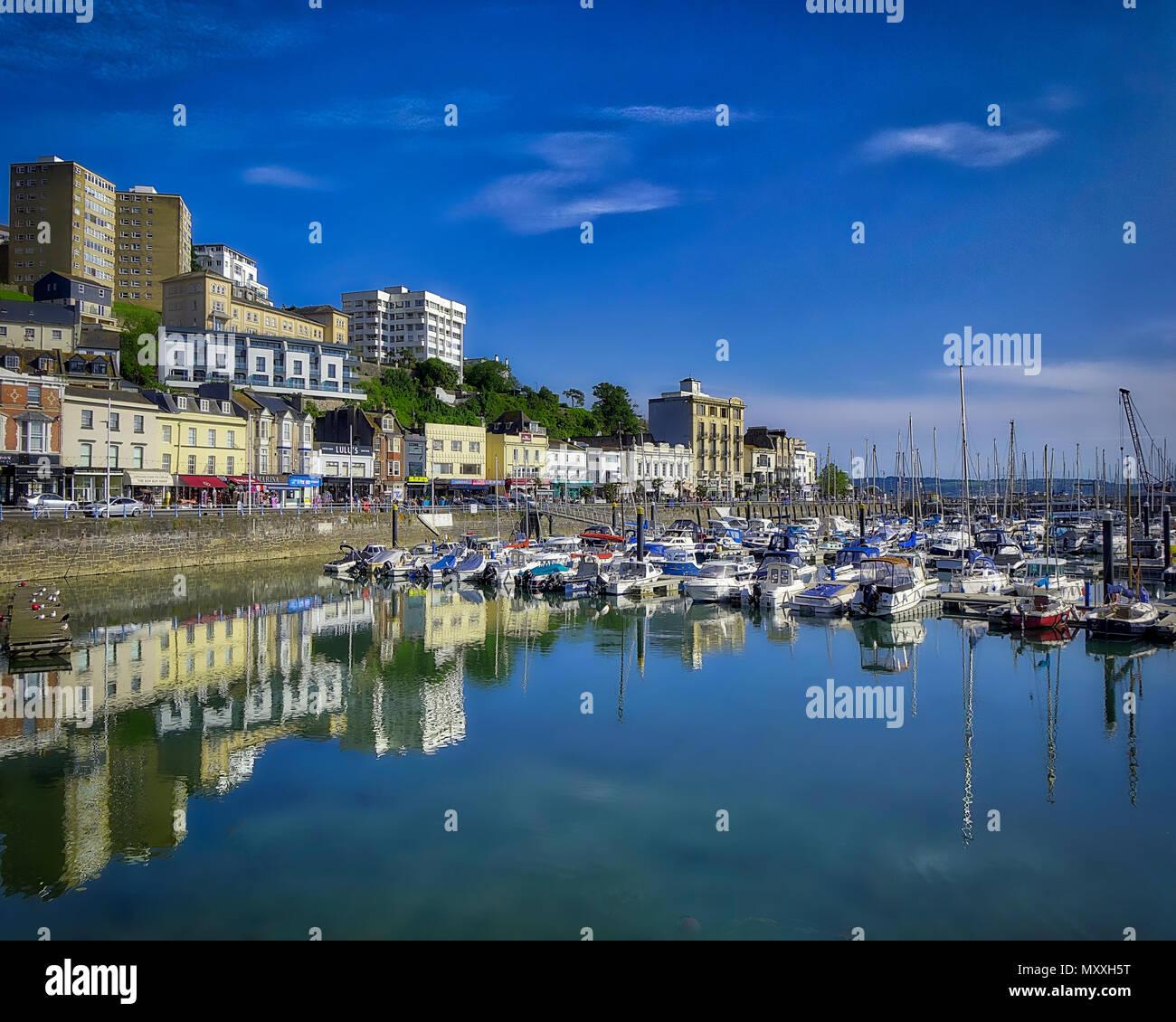 GB - DEVON: Torquay Harbour (immagine HDR) Immagini Stock