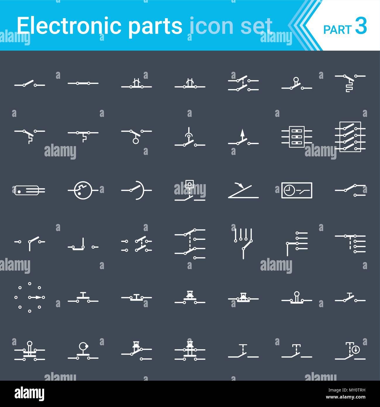 Schemi Elettrici Di Circuiti : Elettrici ed elettronici di icone schema elettrico i simboli