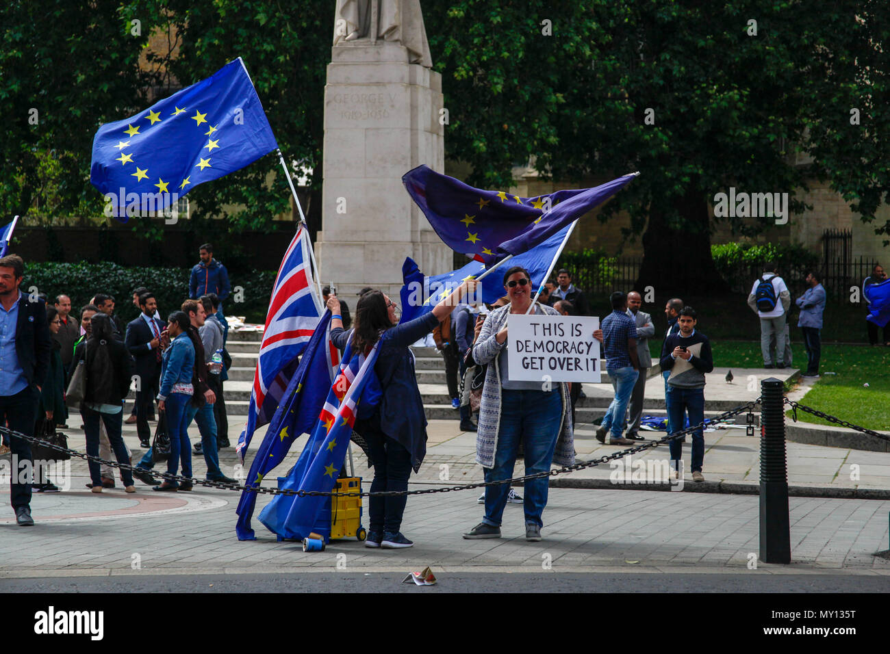 Londra, Regno Unito. 5° giu, 2018. Contatore Anti-Brexit Demo per ...
