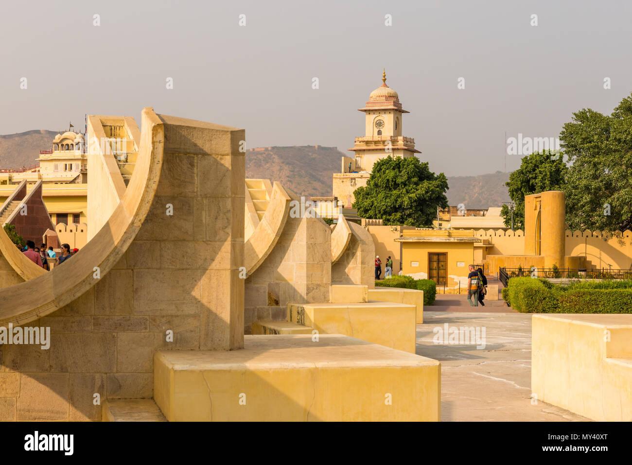 Jantar Mantar Obeservatorium a Jaipur, Rajasthan Immagini Stock