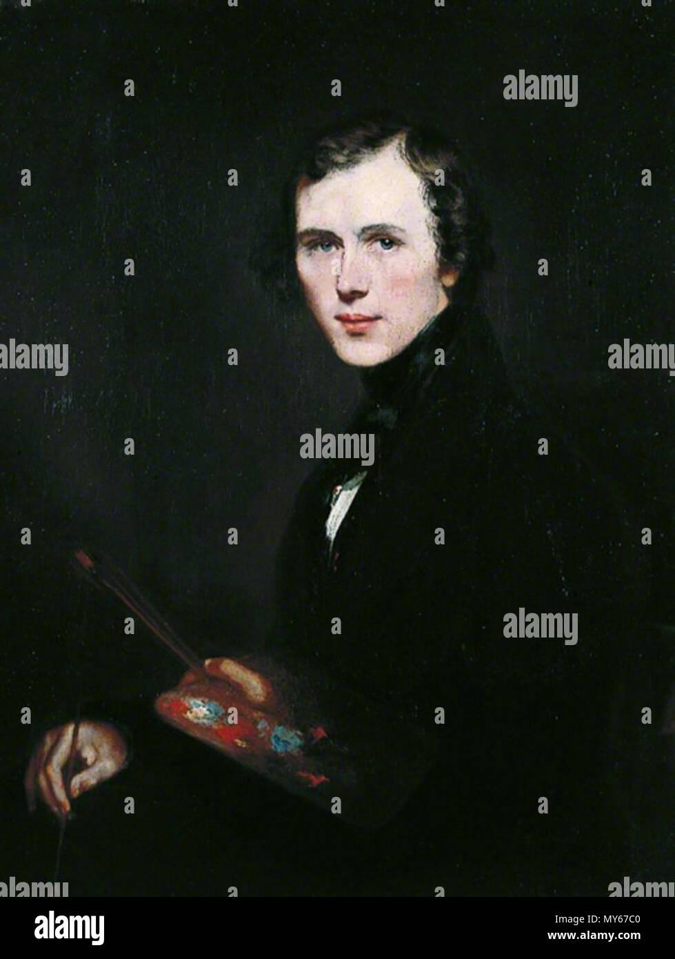 . Inglese: autoritratto olio su tela 91,5 x 71,2 cm circa 1832 . circa 1832. Thomas Sidney Cooper (1803-1902) 528 Thomas Sidney Cooper, da Thomas Sidney Cooper Immagini Stock