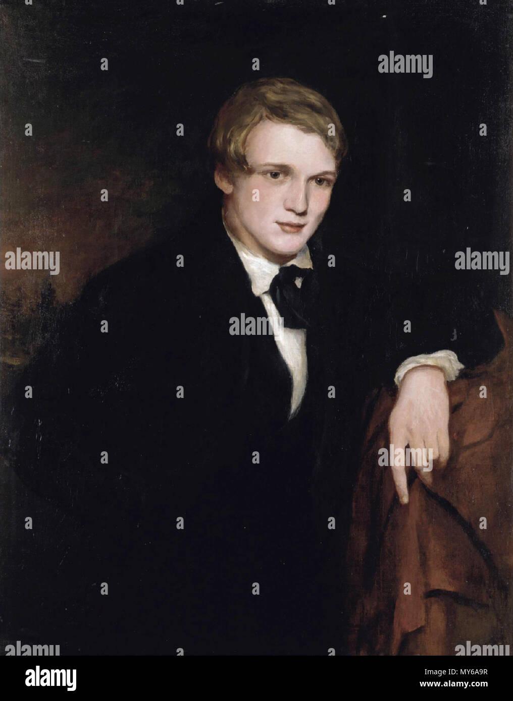. Inglese: William Powell Frith olio su tela 91,5 x 71 cm 1836-1838 . tra 1836 e 1838. attribuita a Douglas Cowper (1817-1839) 565 William Powell Frith, attribuito a Douglas Cowper (1817-1839) Immagini Stock