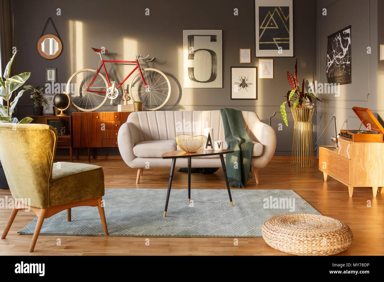 Tappeto Salotto Verde : Colore della luce divano tappeto verde vintage poltrona credenze