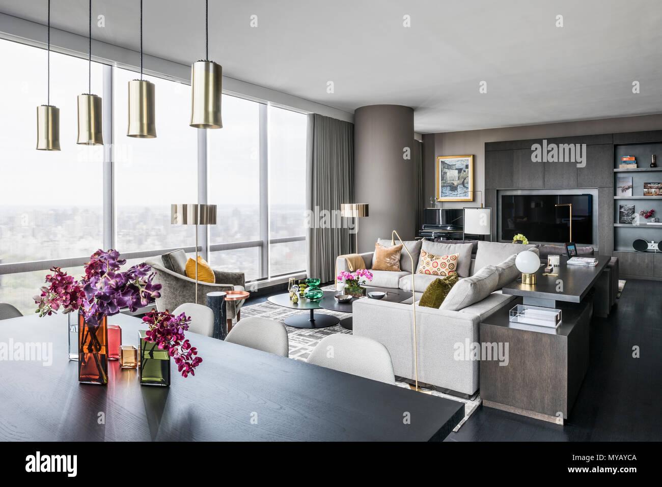 Soggiorno in moderno appartamento a New York City, Stati Uniti d ...