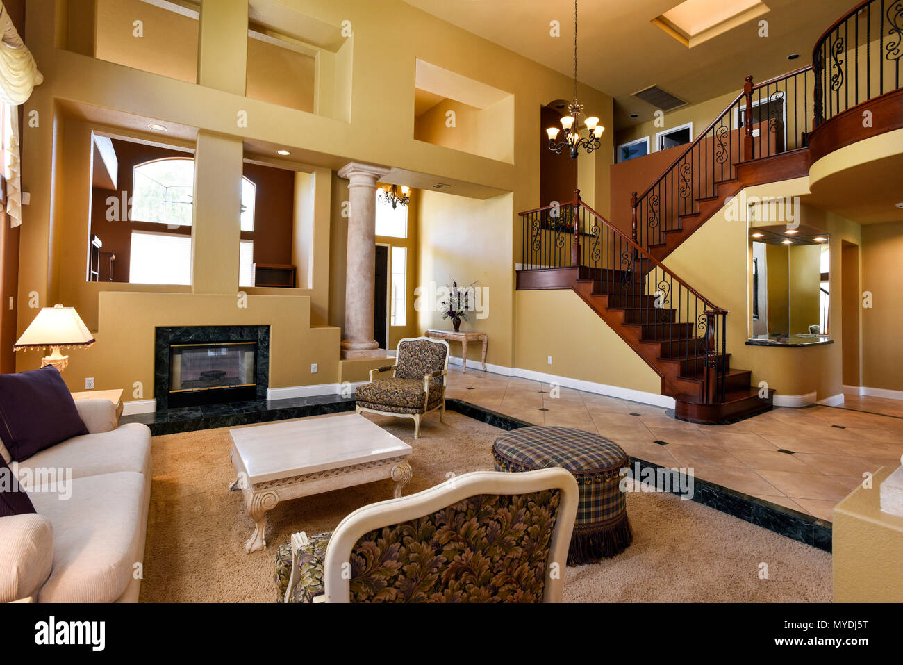 Residential living room interior Foto Stock