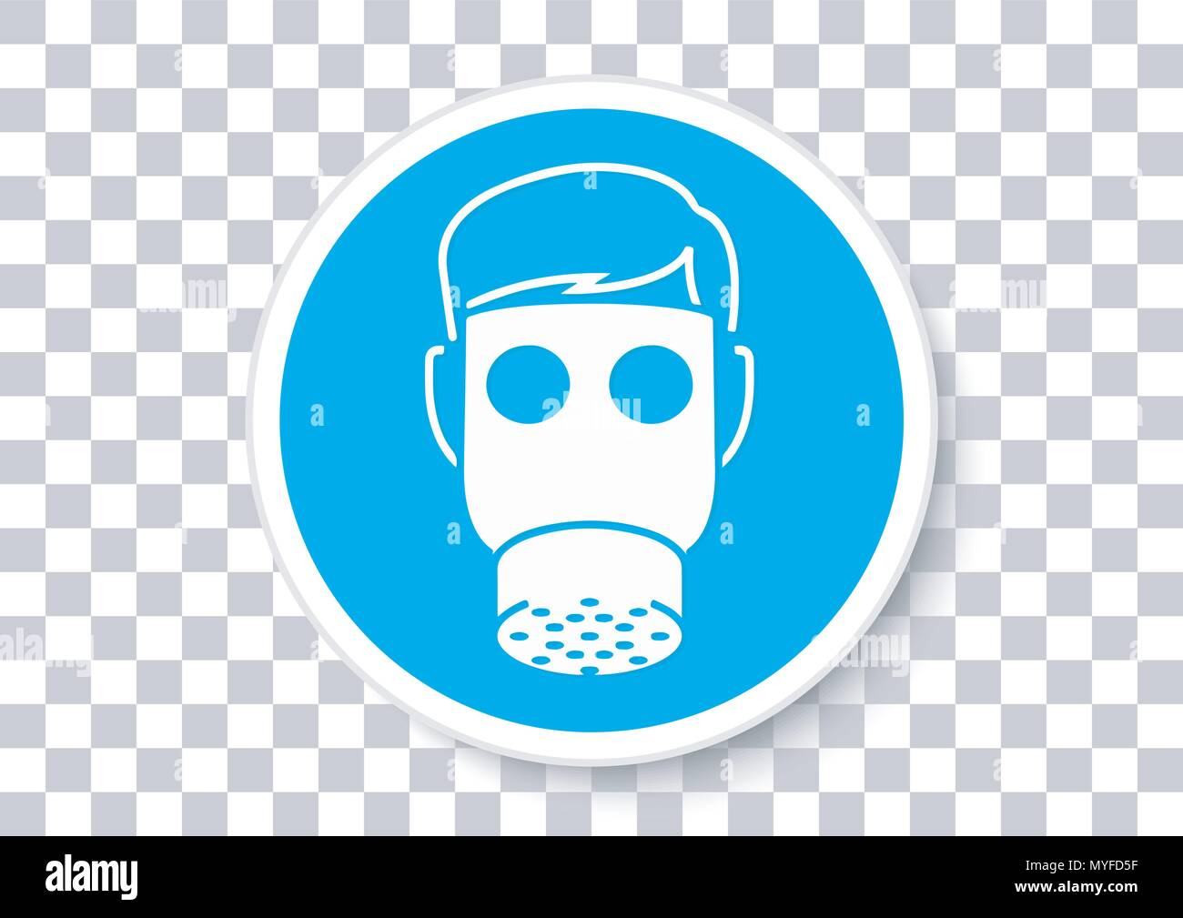 Il design del vettore di apparecchiature di sicurezza apparato respiratorio Immagini Stock
