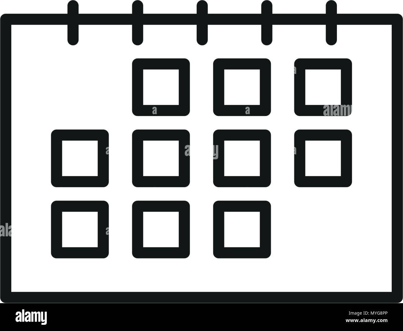 Calendario Icona.Semplice Icona Calendario In Colore Nero Illustrazione