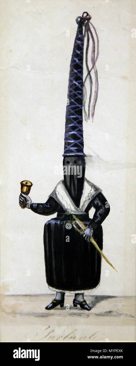 Turbante dipinto dall'artista Ramon Salas figlio del grande pittore Antonio Salas.da Quito in Ecuador. Immagini Stock