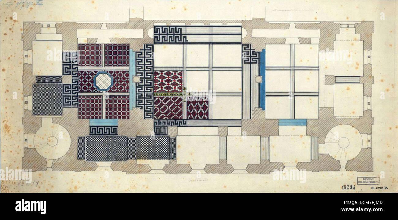 Inglese progettazione di un pavimento piastrellato in westwork