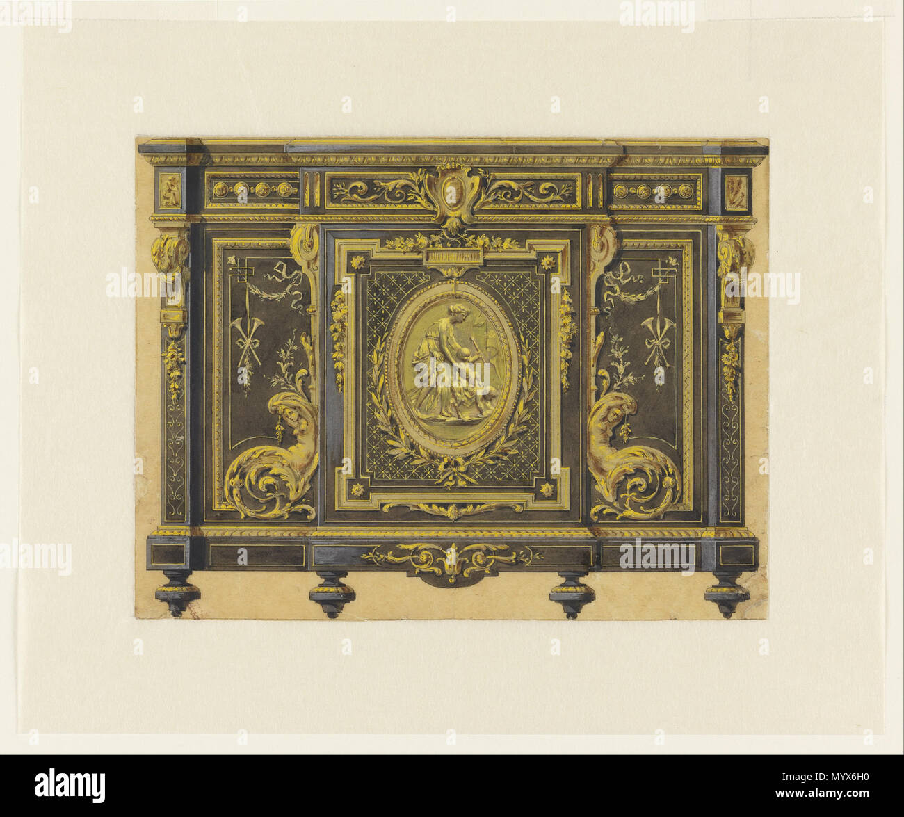 Progettazione di un armadio in stile Luigi XVI . ca. 1860 2 Design ...