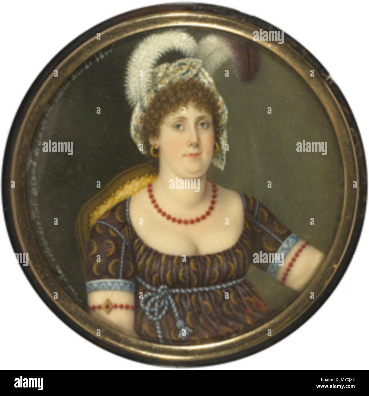 34 Francisca ifigenia meléndez-retrato de dama-museo del romanticismo Immagini Stock