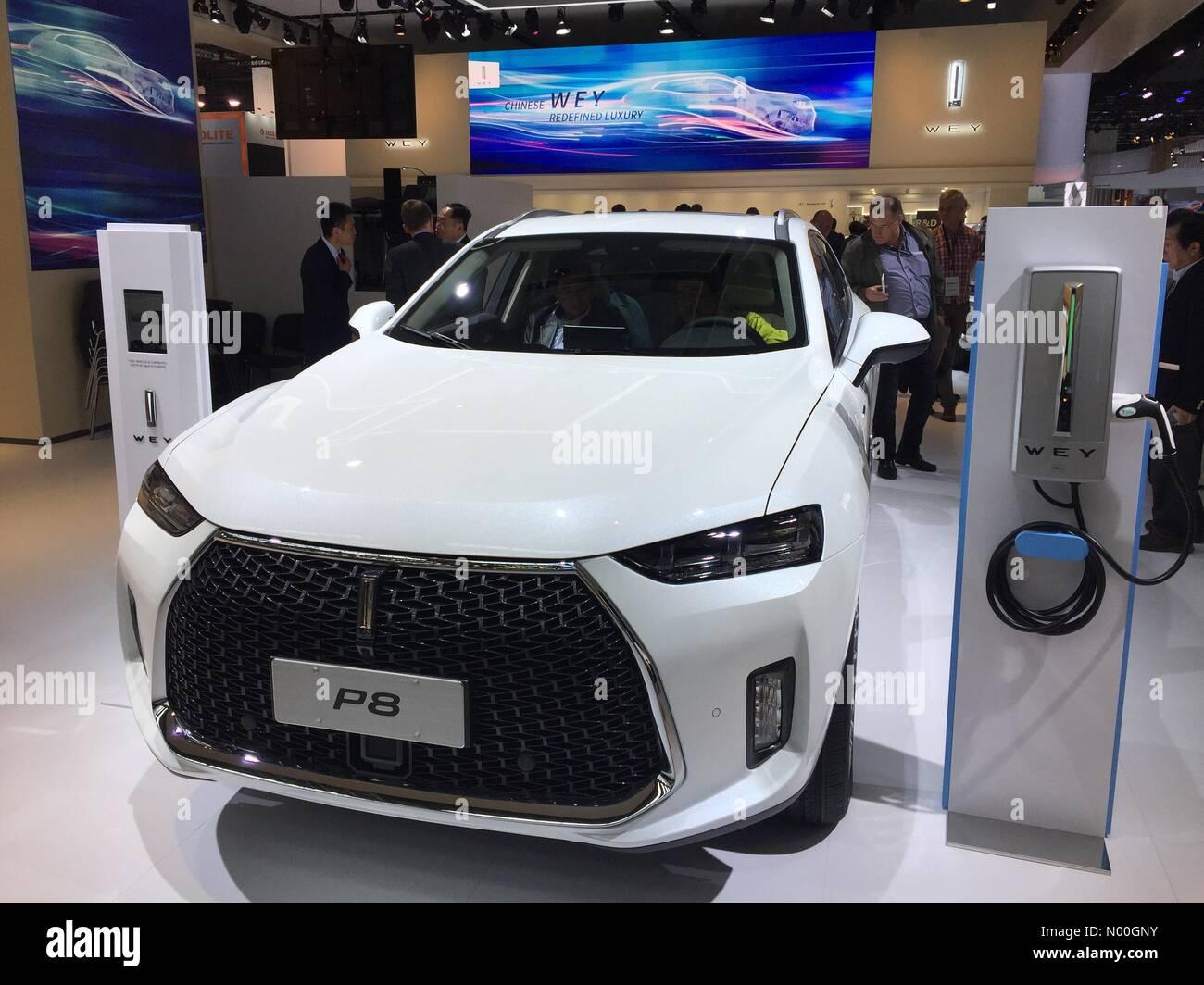 Francoforte, Germania. Xii di settembre 2017. Frankfurt Motor Show 2017 Giornata della stampa anteprima delle nuove Immagini Stock