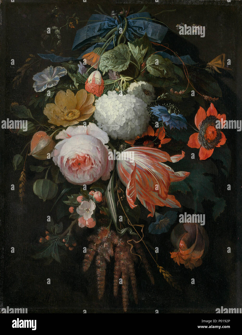 Mazzo Di Fiori In Tedesco.Abramo Mignon Tedesco 1640 1679 Appeso Un Bouquet Di Fiori