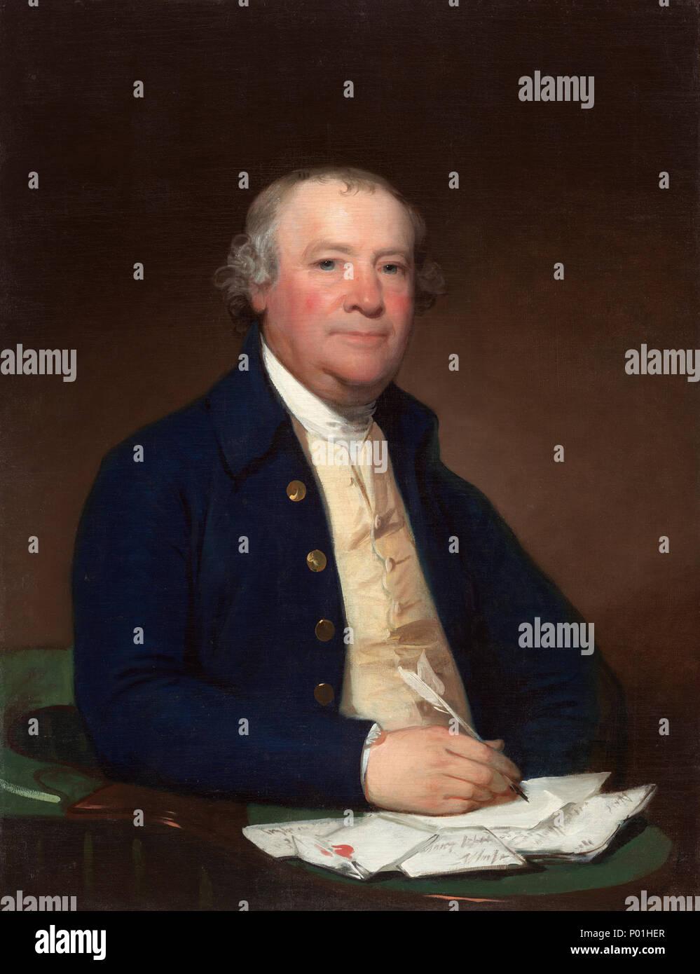 Pittura; olio su tela; complessivo: 91,5 x 71 cm (36 x 27 15/16 in.) incorniciato: 123,8 x 103,2 cm (48 3/4 x 40 5/8 in.); 6 capitano Joseph Anthony A18447 Immagini Stock