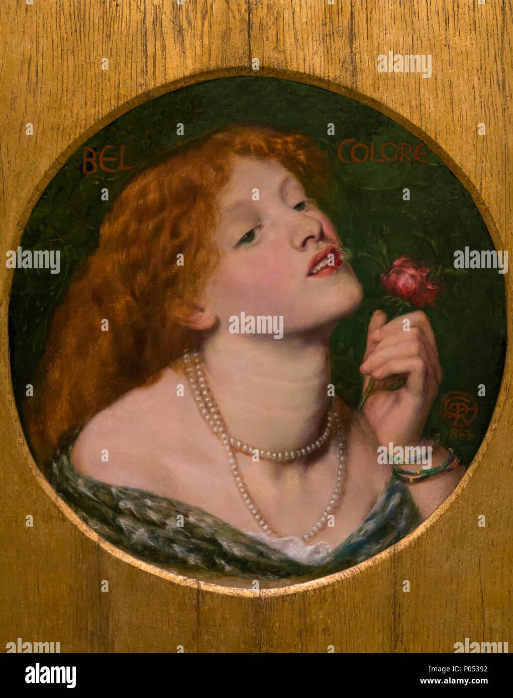 Belcolore, Dante Gabriel Rossetti, 1863, il Museo delle Belle Arti di Boston, Massa, Stati Uniti d'America, America del Nord Foto Stock