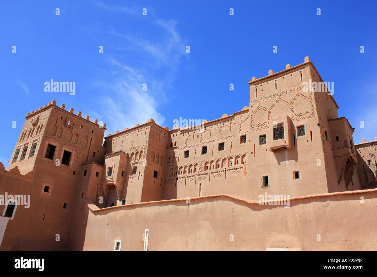 Taourirt Kasbah Ouarzazate, Marocco Immagini Stock