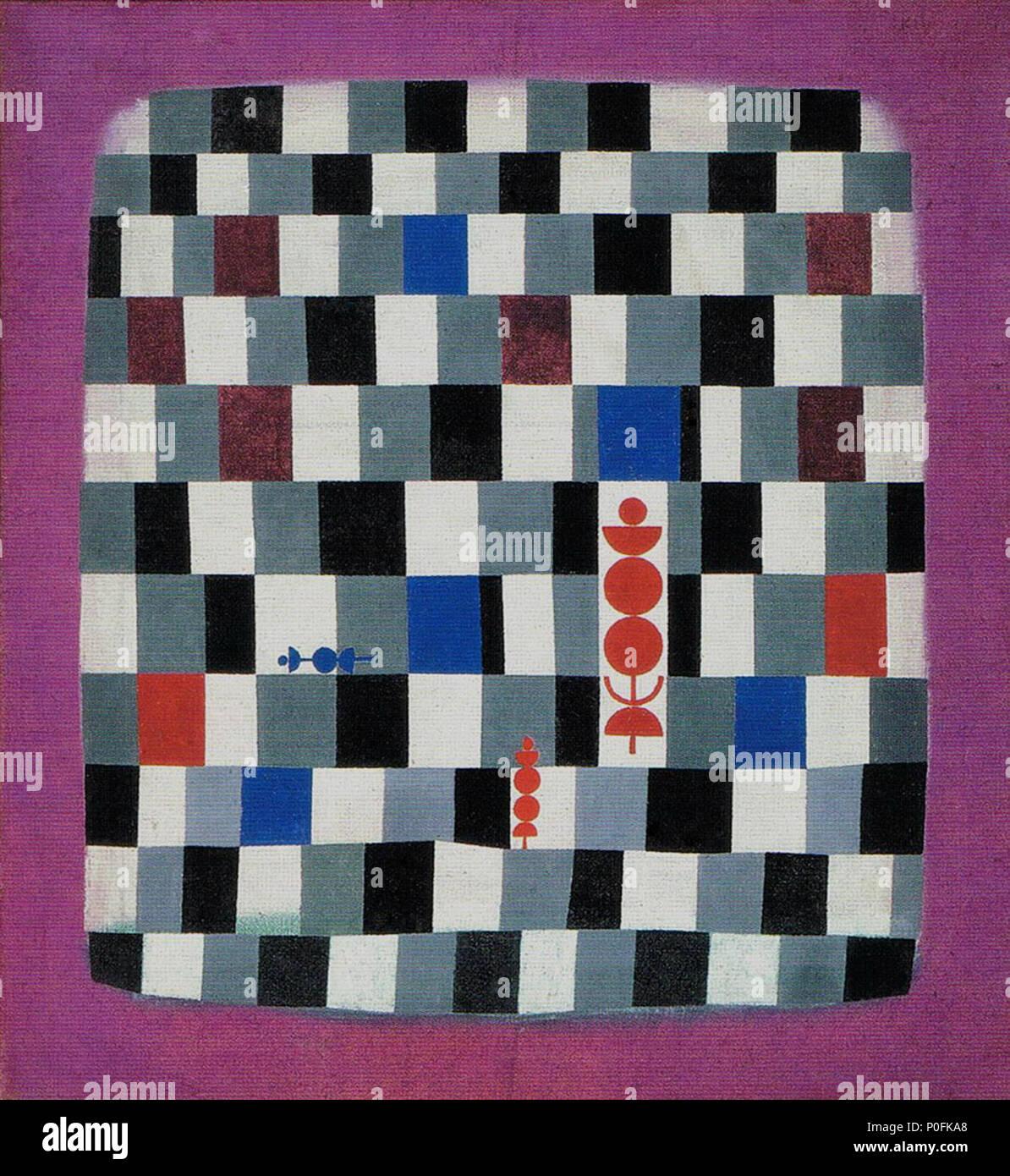 . Deutsch: Paul Klee, Überschach 1937, Öl auf iuta, 110 x 120 cm, il Kunsthaus Zürich inglese: Paul Klee, Super-Chess, 1937 Français : Paul Klee, Superéchec, 1937 . 11 luglio 2015, 06:36:36 58 Paul Klee Ueberschach Immagini Stock