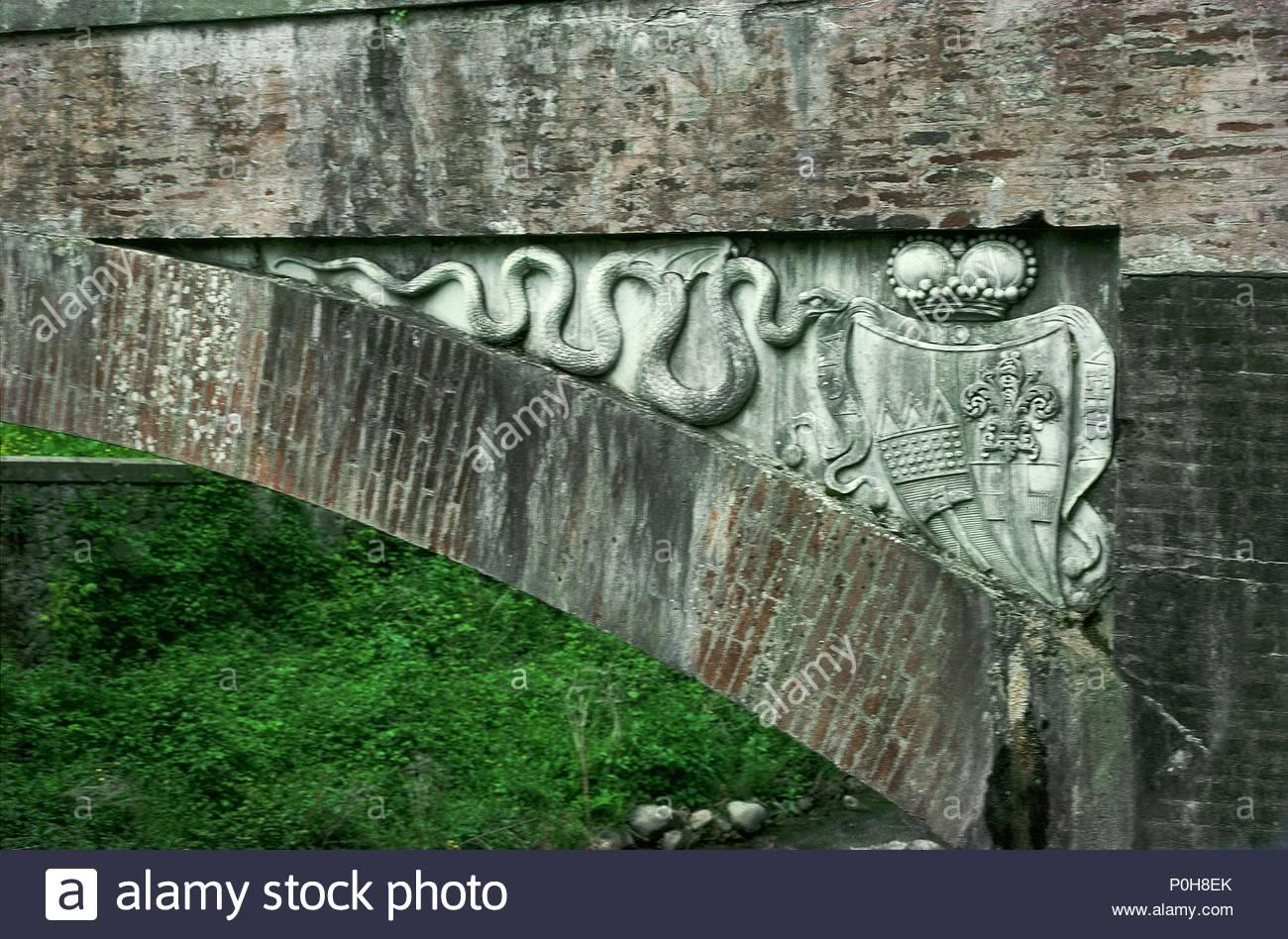 Bagni di Lucca, Demidoff a ponte con bracci del principe Nicolaus ...