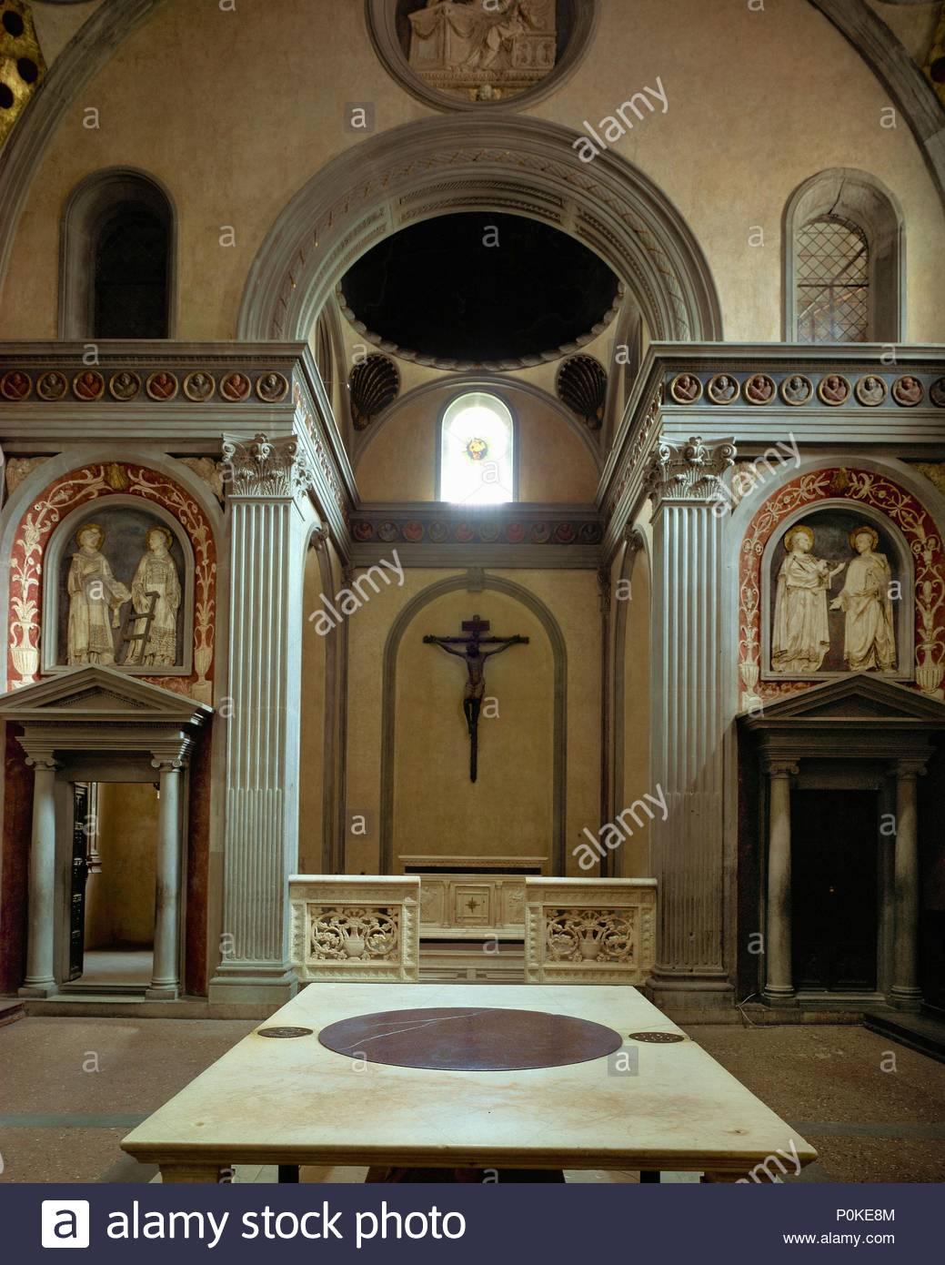 San lorenzo e sagrestia vecchia la sagrestia vecchia con for Sagrestia vecchia