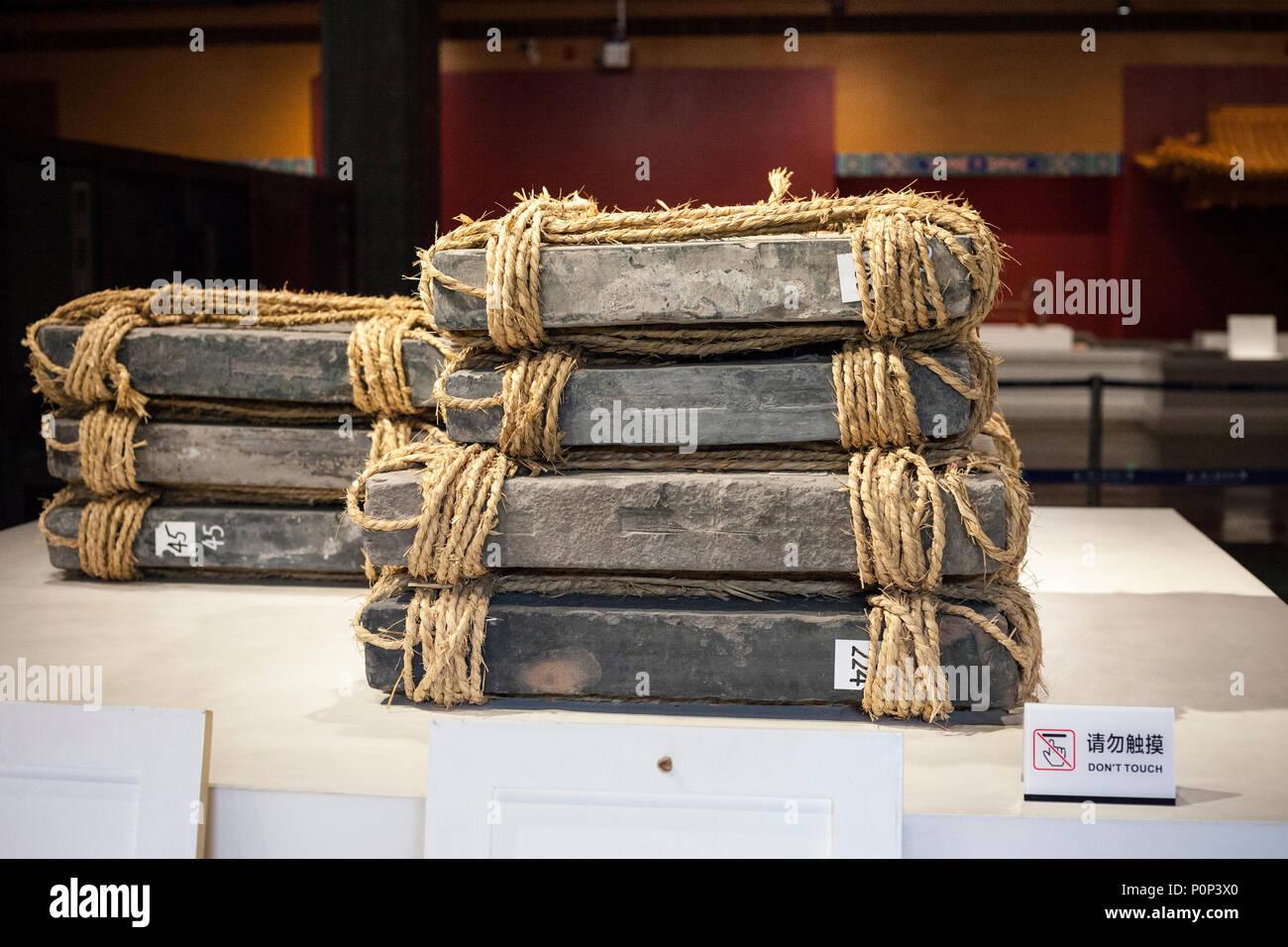 Suzhou jiangsu cina mostrare che mostra come le piastrelle sono