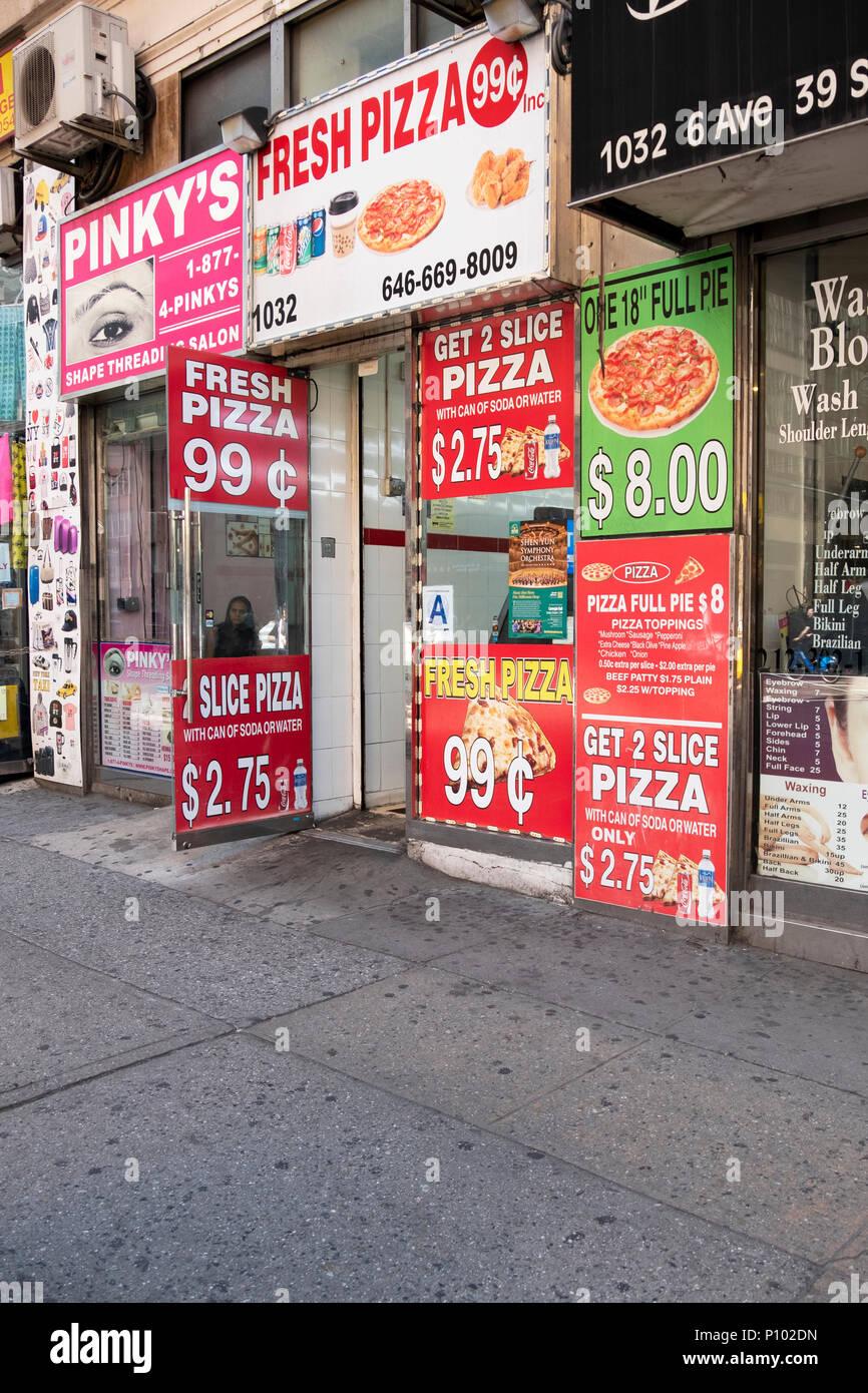 Molto A Basso Prezzo Di Vendita Per Pizza 99 Centesimi Su 6th Avenue Nel Centro Manhattan New York City Un Ottimo 2018