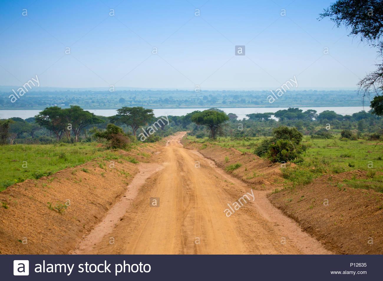 Murchison Falls National Park, Safari paesaggi, Uganda, Africa Immagini Stock