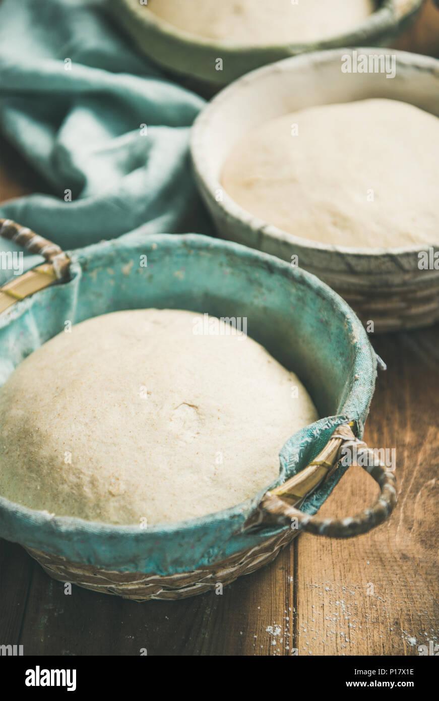Pasta madre per cuocere il pane fatto in casa Immagini Stock