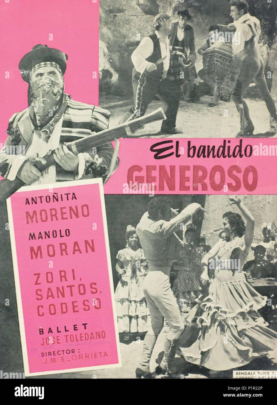 Pellicola Originale Titolo El Bandido Generoso Titolo Inglese