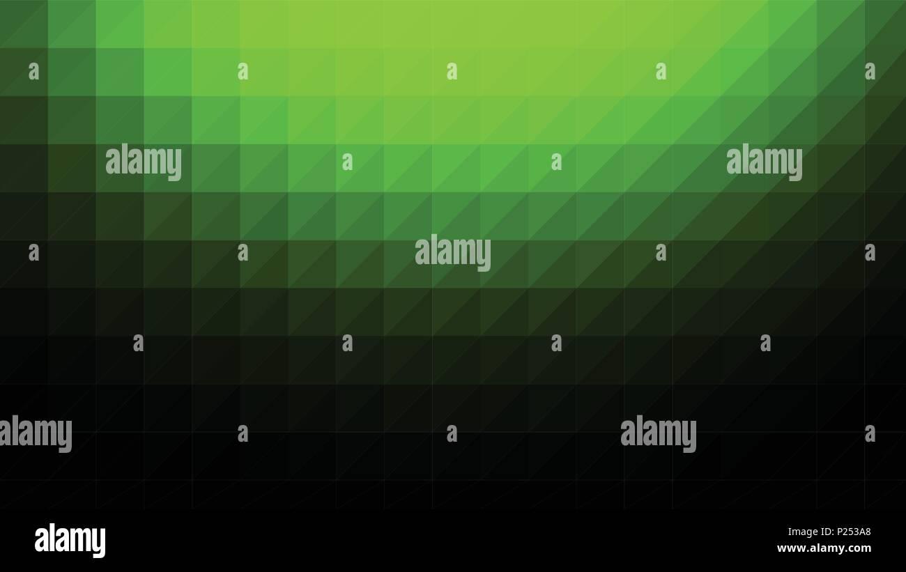 Verde Nero A Bassa Poli Vettore Gradiente Texture Colorata