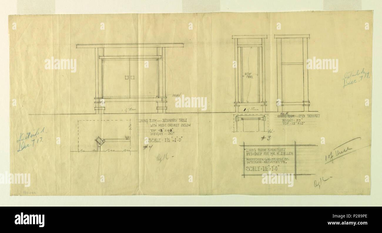 Due Piu Mobili.Inglese Disegno Salotto Mobili Henry J Allen Residence