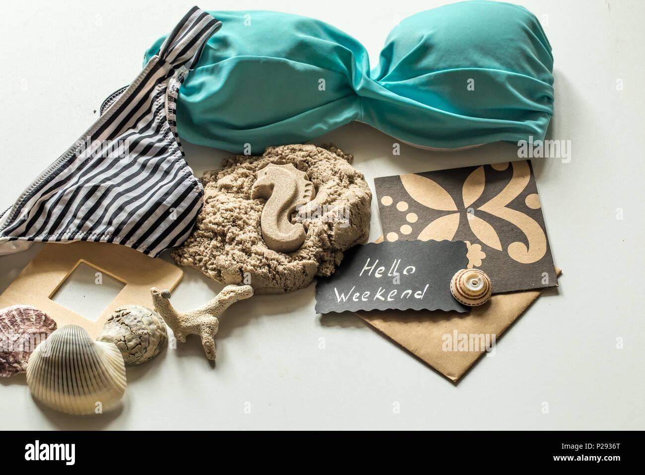 Costume Da Bagno Conchiglia : Ancora la vita di spiaggia elementi costume da bagno ciabattine