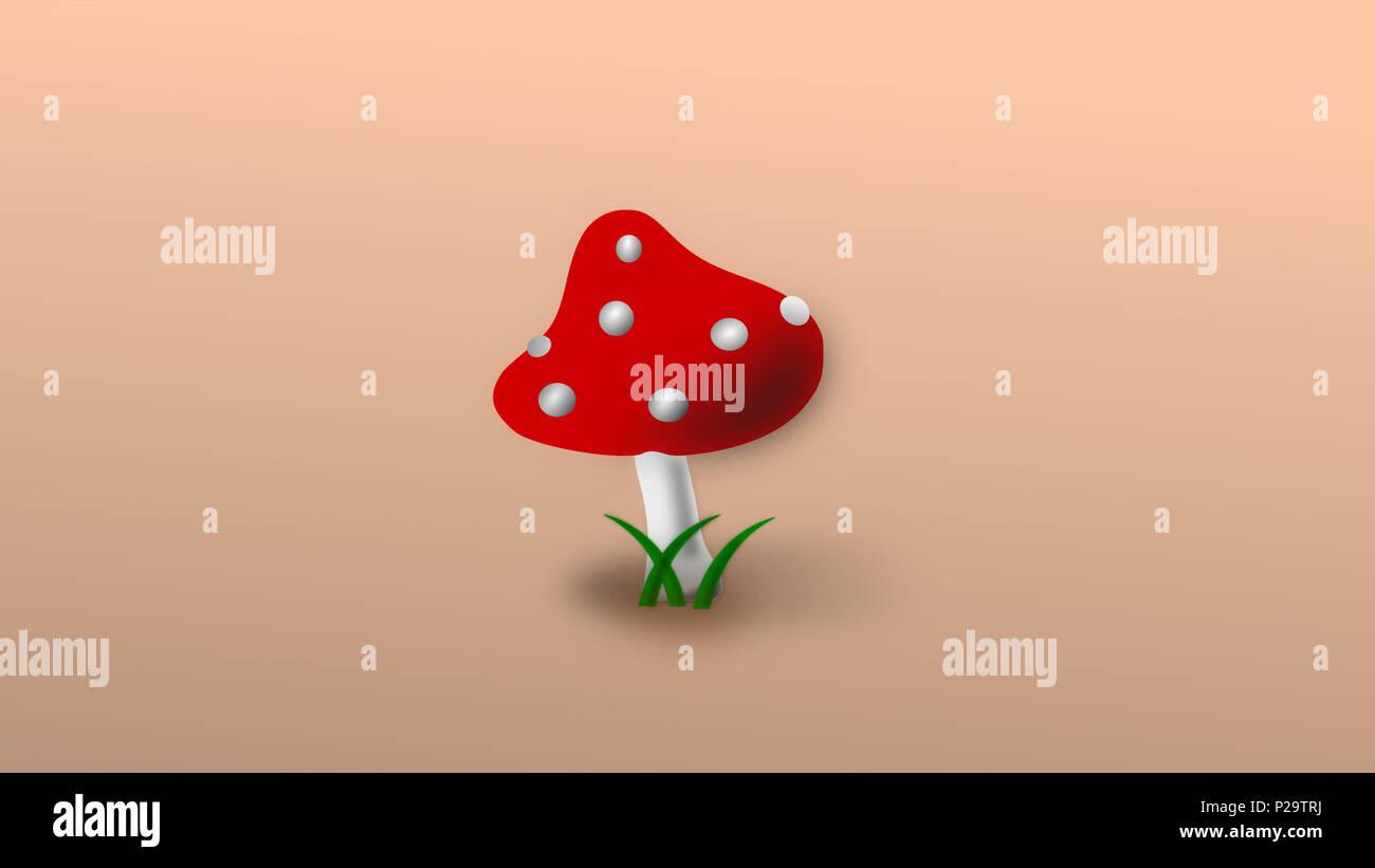 Fungo rosso immagine jpeg Immagini Stock