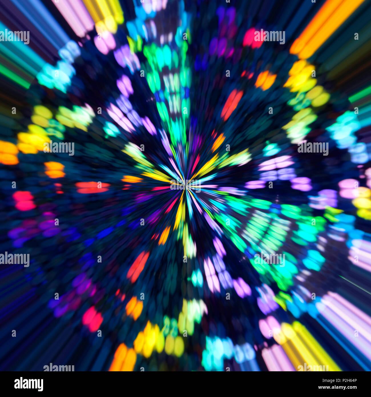 Abstract Spettro Olografico Opere Darte Uno Sfondo Colorato In