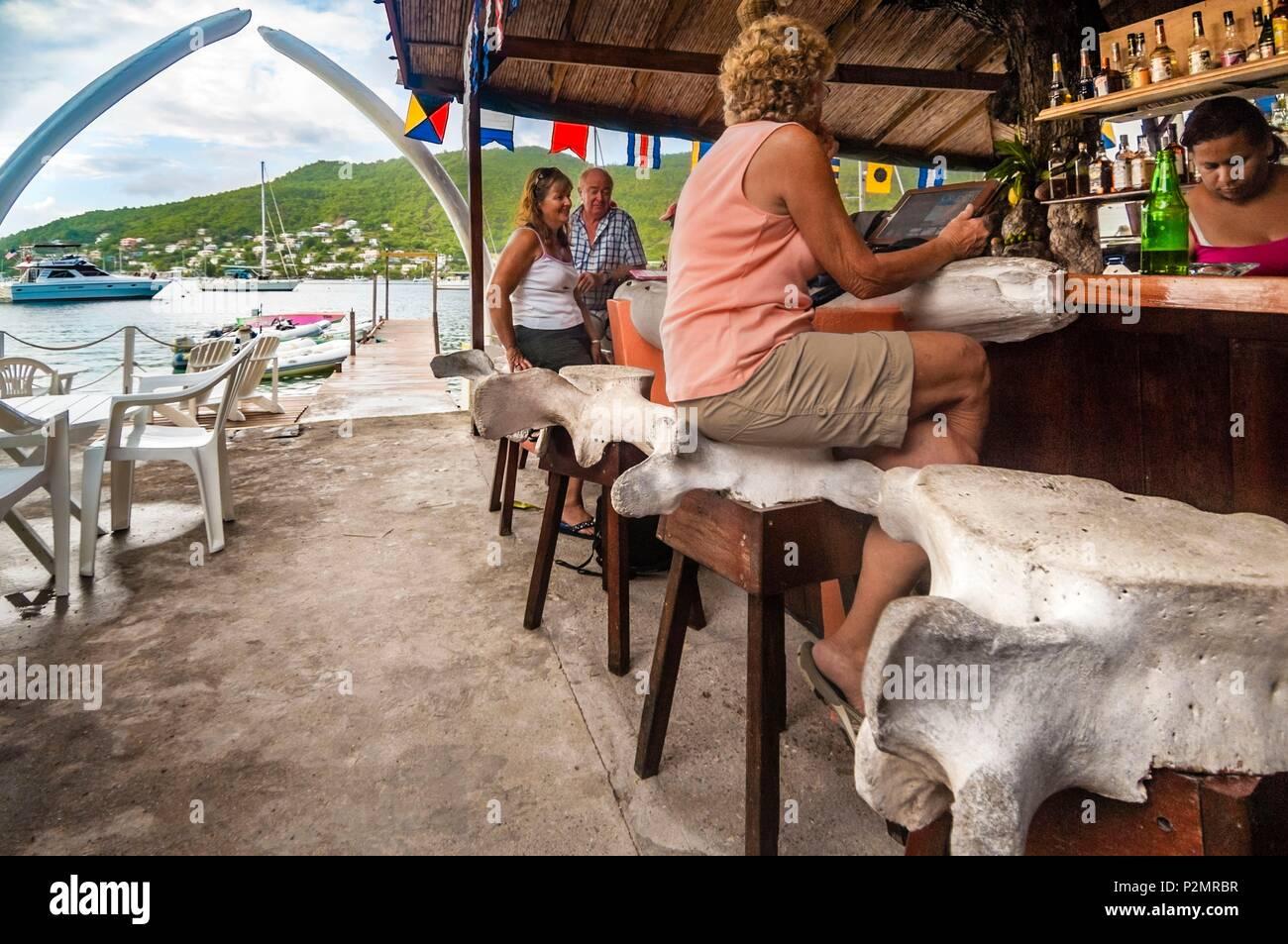 Caraibi piccole antille saint vincent e grenadine bequia isola