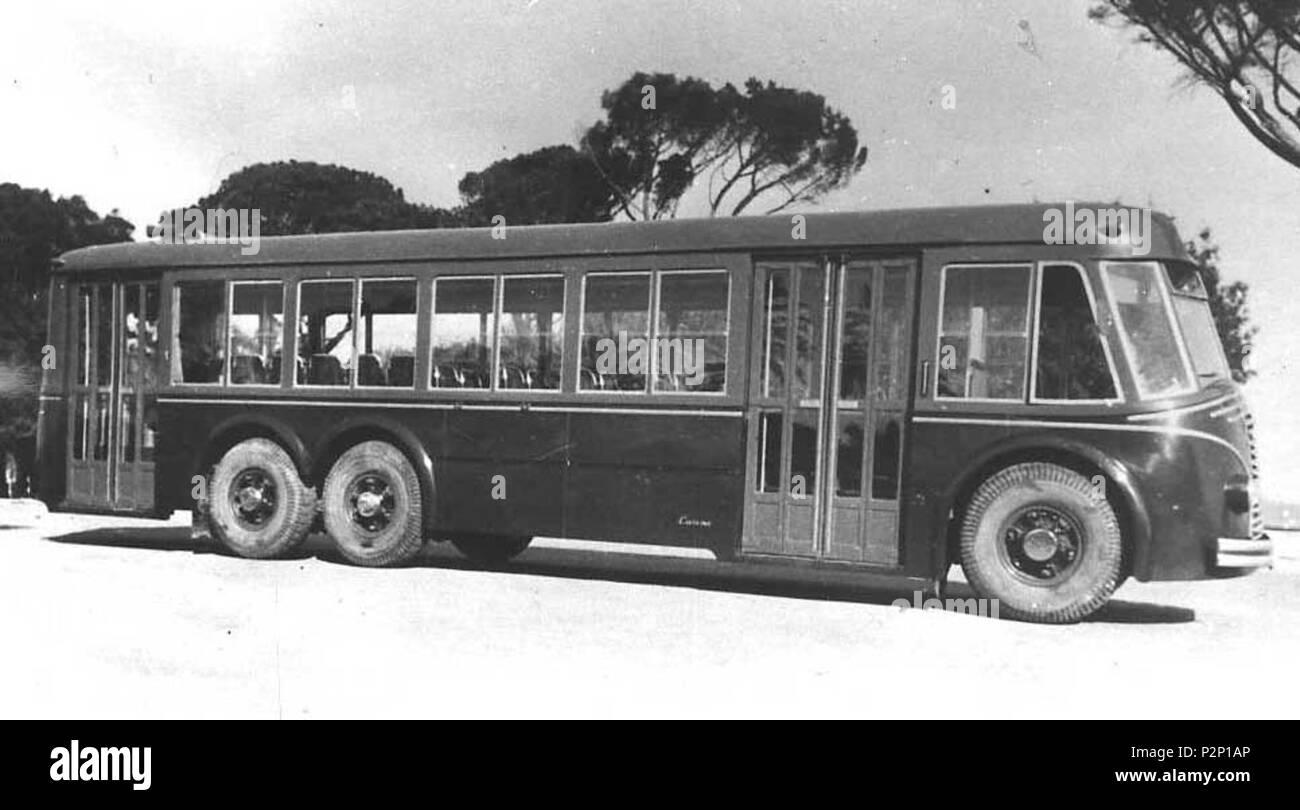 . Italiano: Autobus Fiat 672 (Roma) . 14 agosto 2013, 09:21:49. atac 28 Fiat 672 Immagini Stock