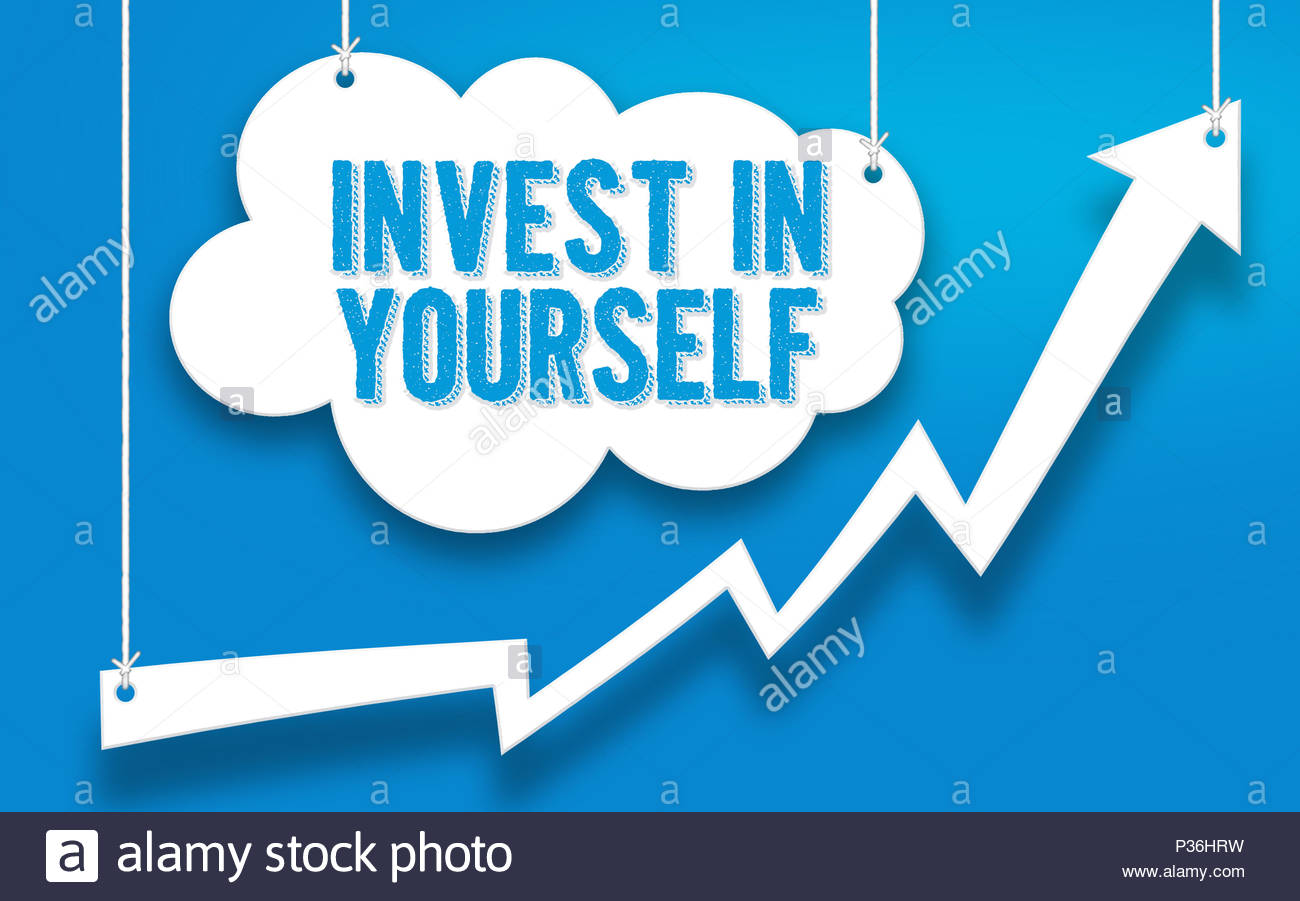 Investire in te stesso concetto di word Immagini Stock