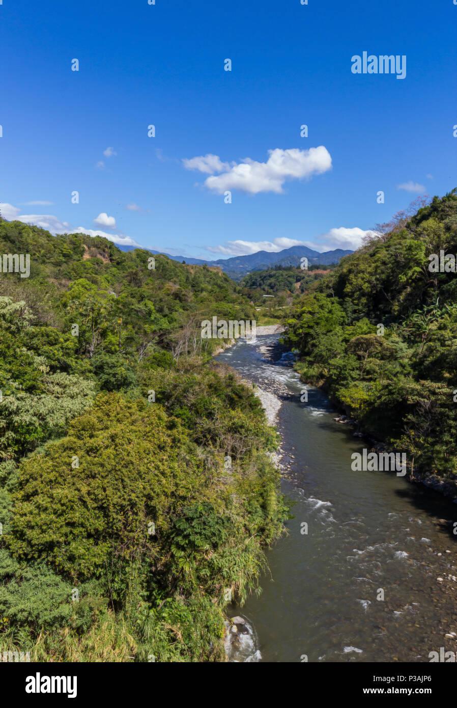 Caldera fiume in Chiriqui, Panama Immagini Stock