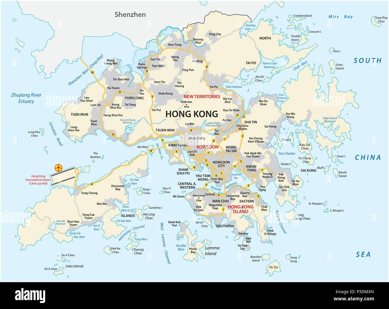 Cartina Hong Kong.Cina Cartina Immagini E Fotos Stock Alamy
