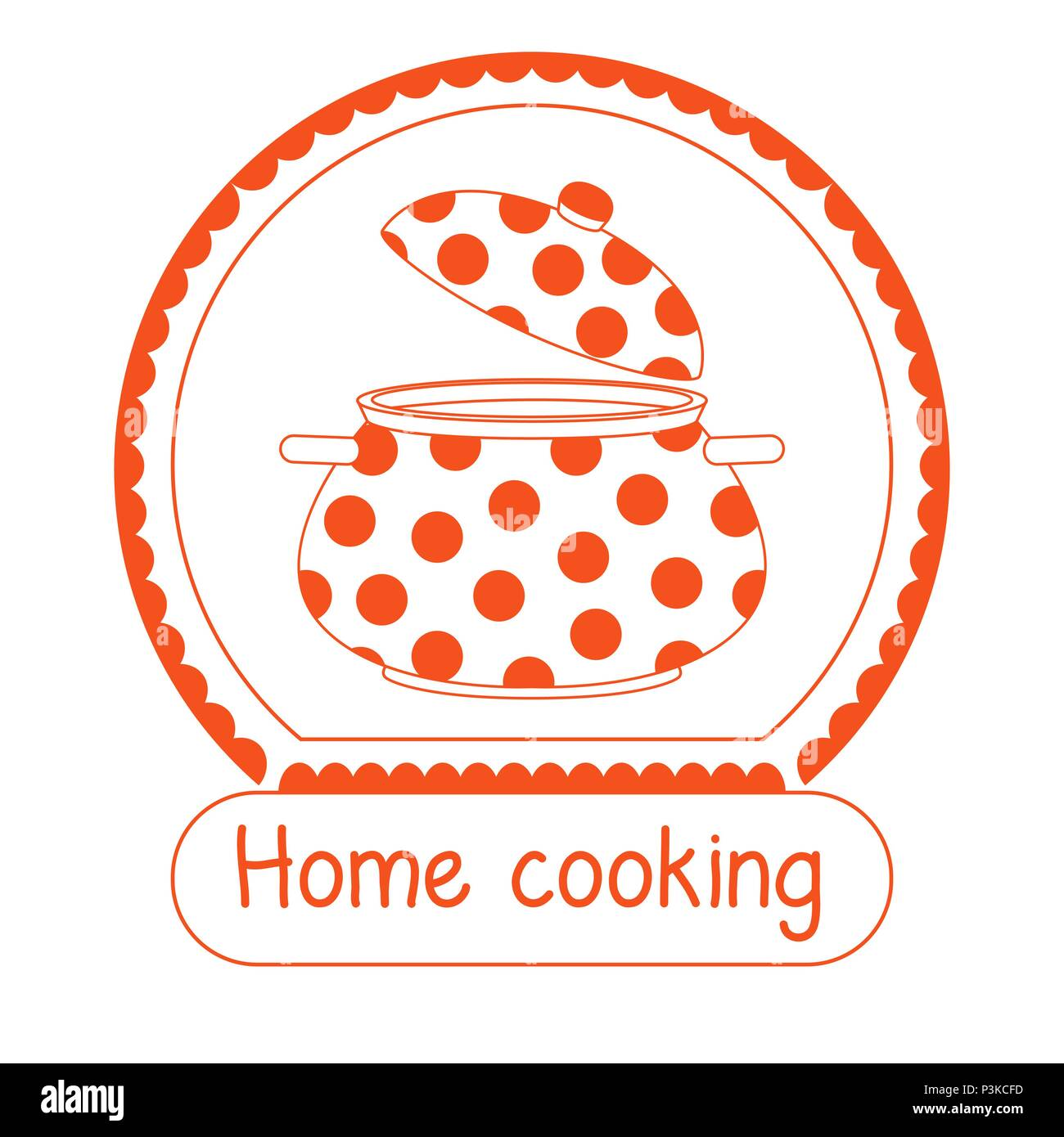 Logo Per Il Ristorante Di Cucina Casalinga Iscrizione Home La